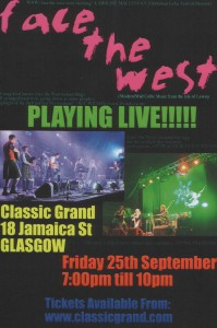Face the West Live in Glasgow